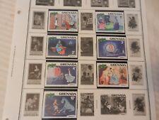 Set of 7 Disney Stamps 1981 Christmas from Grenada Cinderella, MNH