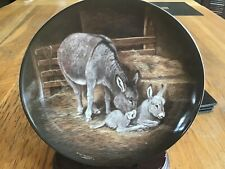 DONKEY & FOAL PLATE - PRIDE - THE KAISER STABLE DOOR COLLECTION - DICK TWINNEY