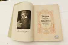 Ancien livre partitions musique BEETHOVEN Sonaten n°296A Edition Peters REF454