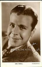 SONG AND DANCE AND FILM NOIR STAR DICK POWELL ORIGINAL VINTAGE RPPC