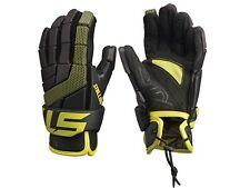 "Stx Stallion 100 Lacrosse Gloves Size: S/Xs 8"" Youth Black & Yellow Brand New"