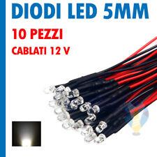 10 LED BIANCO CALDO FOGGY 3mm CABLATI 30cm CON RESISTENZA 12v CON CAVO A1B8