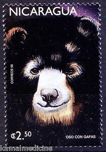 Oso Con Gafas, Eyeglass Bear, Wild Animals, Nicaragua 1999 MNH