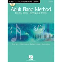Adult Piano Method Book 2 Book/2Online Audios Hal Leonard Student Piano Library