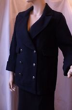 SALE Anthropolgie Cartonnier Navy Peacoat $158 detailed unique button EUC size 8