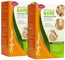 SALLY HANSEN NATURALLY BARE WAXING STRIPS FOR FACE & LITTLE SPACES **BRAND NEW**