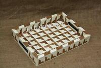Handmade Antique Bone inlay Vintage Serving Tray