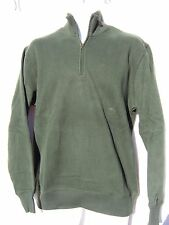 Van Heusen Men's Green Sueded Fleece Zip Front Sweatshirt LS Size Small NWT