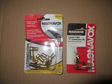 "MAGNAVOX M61129 RG6 COAXIAL CABLE ""F"" CONNECTORS (10) - FACTORY SEALED!!"