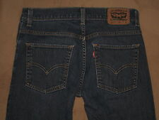 Levis 511 Size 28 X 28 Straight Leg Dark Blue Stretch Denim Mens Jeans