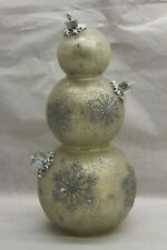 "Illuminated 13"" Glass Holiday Ornament Stack by Valerie FROST RTL$30"