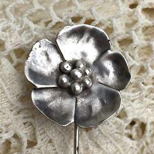 Vintage Sterling Silver Stick Pin Native Wild Flower Artisan Southwestern Mexico