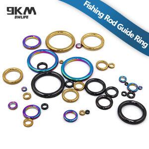 Fishing Rod Guides Ring 10Pcs Wear Resistant Ceramic Rod Repair Replacement Kit