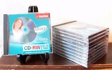 Imation CD-RW 10x-24x 700mb 80min Rewritable Media JewelCase UltraSpeed Lot of10