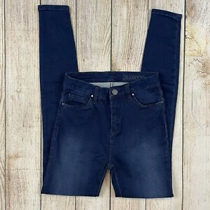 Blank NYC Women's High Rise Skinny Jeans Stretch Denim Dark Indigo Blue Wash 26