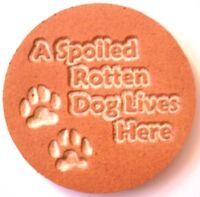 Dog plaque mold  plaster concrete casting animal mould