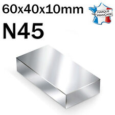 SUPER AIMANT MAGNET NEODYM N45 - 60x40x10mm - 125Kg