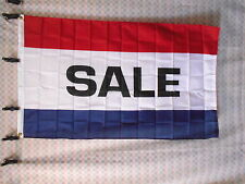 SALE FLAG NEW 3' X 5' POLYESTER WITH BRASS CROMMENTS