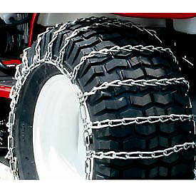 Maxtrac Snow Blower/Garden Tractor Tire Chains,  2 Link Spacing, Steel, Pair