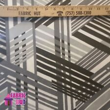 Home Decor Grayscale Art Deco Lines Traingle Heavy Upholstery Fabric by the Yard