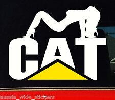 CAT CHICK Sticker Decal Sexy Caterpillar Car Ute Truck 130mm