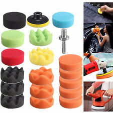 19Pcs Polishing Sponge Pad M10 Drill Adapter Kit for Car Auto Polisher Buffer US