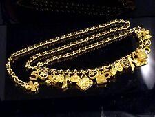 Authentic CHANEL Popular Double Chain Belt Multi-Charm Excellent H772