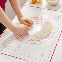 Silicone Dough Rolling Mat Baking Pastry Clay Pad Sheet Liner Non-Stick