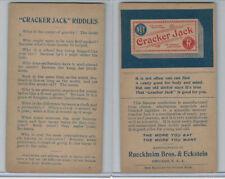 E148 Rueckheim Bros, Cracker Jack Riddles & Puzzles, 1910, #2