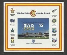 NEVIS 2000 LORD'S CRICKET 100th CENTENARY TEST MATCH Souv Sheet MNH