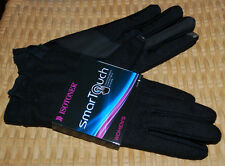 Isotoner Smartouch Winter Gloves Womens XL Black Ruffle Wrist NWT $48 Wool Blend