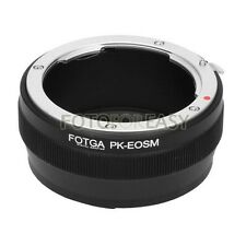 FOTGA Adapter for Pentax PK K lens to Canon EF-M Mount EOS M M2 M3 M5 M6 M10 Cam