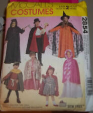 McCall's Pattern M3854 Childrens-Boys/GirlsCape/Tunic Costumes.Sz 2 to 12