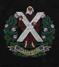 New Lancashire Embroidery Cameron highlanders B. Badge