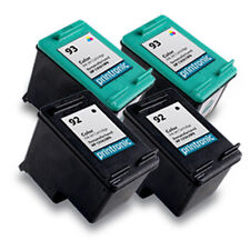 4 Recycled HP 92 93 Ink Cartridge C9362WN C9361WN PhotoSmart C3100 C3183 Printer