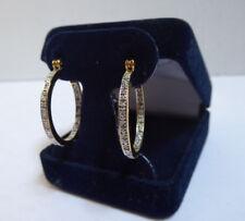 Danbury Mint Diamond Whisper Inside-Out Hoops 14kt Gold Plated Earrings