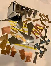Metal scrap pieces for various art/craft uses, copper 18g, brass 18g & aluminum