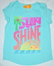 Gymboree Mix N Match Glitter SUN SHINE Light Blue Shirt Med 7 8 Kid Girls NWT