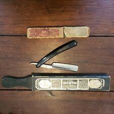 OLD FRENCH shave STRAIGHT RAZOR - 69 THIERS ISSARD 5/8, Very sharp  & sharpener