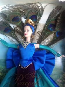 1998 The Peacock Barbie Doll First In Series Birds Of Beauty Collection