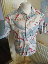 Men's Batik Bay Hawaiian Reverse Print Button Down Shirt, Aloha, Tropical.