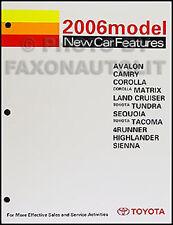 2006 Toyota Service Training Manual Highlander Land Cruiser Sequoia 4Runner