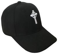 Halo Christian Cross Religious Baseball Cap Caps Hat Hats God Jesus Black White