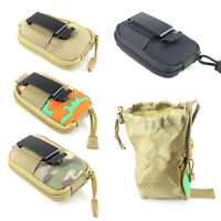 Tactical Molle Foldable Bag Utility Magazine Mag Belt Hunting Drop Dump Pouch