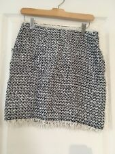 Lanvin Tweed Skirt 36 Black And White