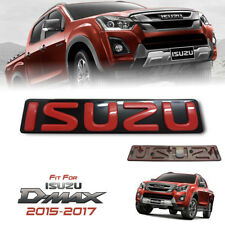 1 X FRONT GRILL GRILLE EMBLEM FOR ISUZU D-MAX DMAX 2015 16 17 18 RED LOGO BADGES