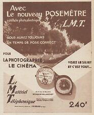 Z8440 Posemétre L.M.T. - Pubblicità d'epoca - 1935 Old advertising