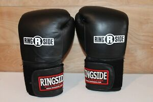 Ringside Boxing Gloves Black Size Large EUC