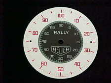 Vintage New Old Stock Multicolor Heuer Rally Stopwatch Dial 52 mm