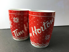 2 Tim Hortons Coffee Red Sweater Mugs Limited Edition 015 2015 Knit